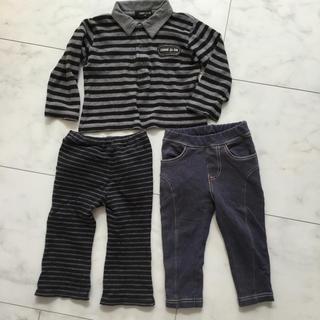 ムジルシリョウヒン(MUJI (無印良品))の男の子 80センチ パンツ ロンT コムサ(パンツ)