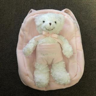familiar - familiar ファミリア 幼児用リュック 脱着可能ベアー ピンク 1〜3歳