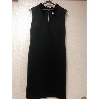 カルバンクライン(Calvin Klein)のドレス 黒 新品 パーティーなどに(ミディアムドレス)