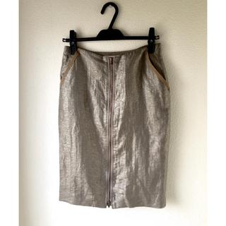 デプレ(DES PRES)のデ プレ シャイニー タイトスカート(ひざ丈スカート)