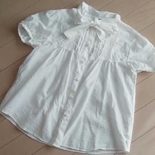 コムサイズム(COMME CA ISM)のコムサ ブラウス シャツ 発表会 冠婚葬祭 結婚式 白 140cm(ブラウス)