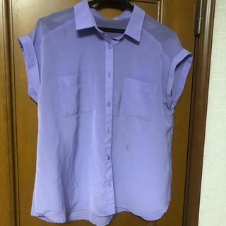 ジーユー(GU)のGU*ラベンダーシャツ(シャツ/ブラウス(半袖/袖なし))