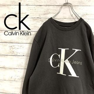 カルバンクライン(Calvin Klein)の古着 90s カルバンクライン スウェット トレーナー ビッグプリント(スウェット)