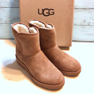 アグ(UGG)のスリム★UGG アグ チェスナット 赤茶 ショート ムートンブーツ 23 ブーツ(ブーツ)