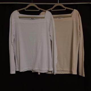 ディーホリック(dholic)のDHOLIC スクエアネックTシャツ 2枚セット(Tシャツ(長袖/七分))