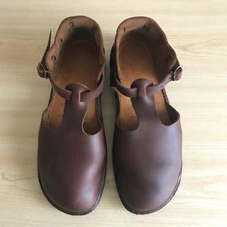 ビルケンシュトック(BIRKENSTOCK)の【美品】オーロラシューズ  7 1/2  ウェストインディアン  ブラウン (ローファー/革靴)
