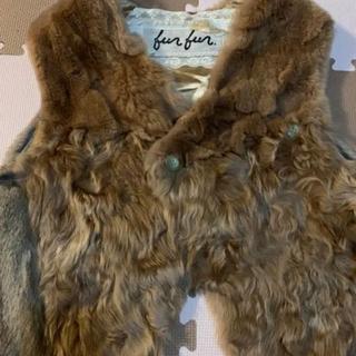 ファーファー(fur fur)のMIXファーベスト(ベスト/ジレ)