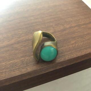 一点物 真鍮 リング ターコイズブルー(リング(指輪))