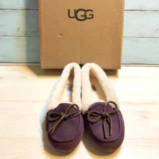 アグ(UGG)のUGG 新品 アグ 正規品 ローファー モカシン ショート ムートン ブーツ 紫(ブーツ)