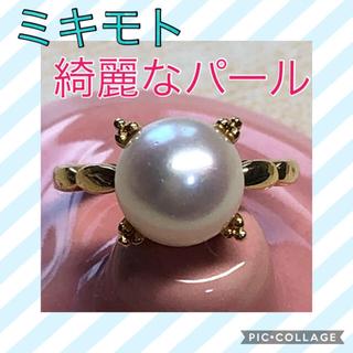 ミキモト(MIKIMOTO)の☆超美品☆MIKIMOTO ミキモト k18 アコヤパール リング(リング(指輪))