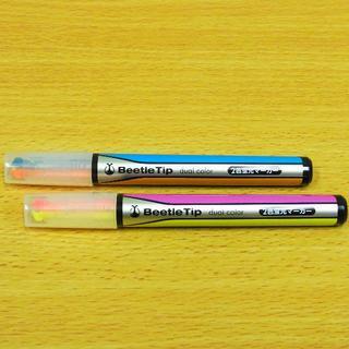 コクヨ(コクヨ)のKOKUYO蛍光マーカーペン ビートルティップ・デュアルカラー PM-L303(ペン/マーカー)