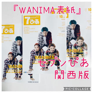 ワニマ(WANIMA)のセブンぴあ WANIMA表紙☆関西版 10月を3冊(印刷物)