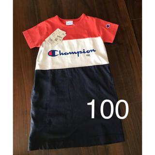 チャンピオン(Champion)のチャンピオン  シャツワンピース  100(ワンピース)