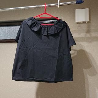 メルロー(merlot)のメルロー ヒラヒラ襟のブラウス(シャツ/ブラウス(半袖/袖なし))