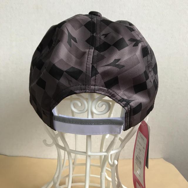 DIADORA(ディアドラ)のディアドラ レディースキャップ 黒F 定価3520円 DTA9743 スポーツ/アウトドアのテニス(ウェア)の商品写真
