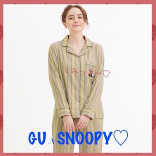 スヌーピー(SNOOPY)のパジャマ(長袖)(ストライプ)Peanuts🌺(パジャマ)
