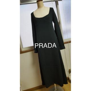 プラダ(PRADA)のPRADA プラダ ワンピース ジャージ ロング(ロングワンピース/マキシワンピース)