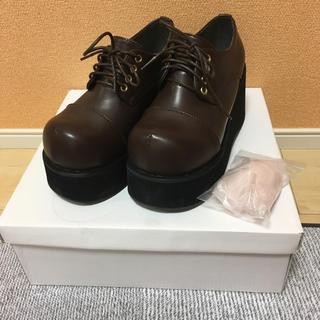 ユメテンボウ(夢展望)のディアマイラブ おでこパンプス 厚底 チョコブラウン(ローファー/革靴)