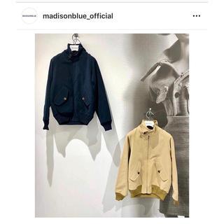 マディソンブルー(MADISONBLUE)のマディソンブルー  ドリズラー ジャケット ブルゾン 美品 シルク ブラック(ブルゾン)