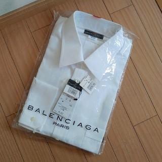 バレンシアガ(Balenciaga)の新品★バレンシアガ BALENCIAGA 国内正規品 ワイシャツ 無地 白(シャツ)