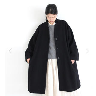 ヴェリテクール(Veritecoeur)のVeritecoeur ヴェリテクール 新品 新作 黒のコート ブラック 今期(ロングコート)