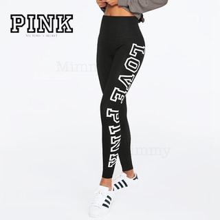 ヴィクトリアズシークレット(Victoria's Secret)のPINK♡ハイウエストコットンレギンス♡ブラック(レギンス/スパッツ)