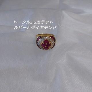 【値下げ】ルビーとダイヤモンド リング(リング(指輪))
