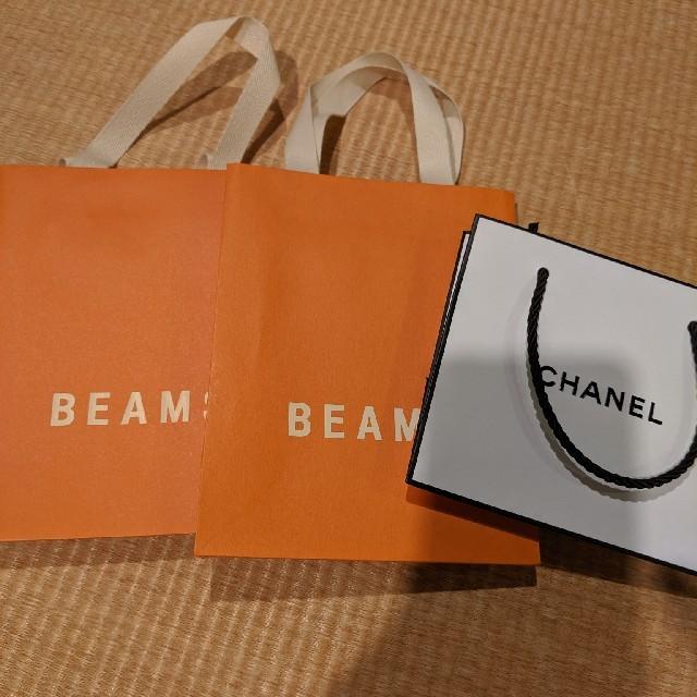 BEAMS(ビームス)の紙袋3枚セット レディースのバッグ(ショップ袋)の商品写真