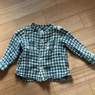 ムジルシリョウヒン(MUJI (無印良品))の無印 チェックシャツ 80(シャツ/カットソー)
