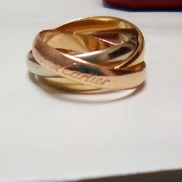 カルティエ 3連リング 中古 レディースのアクセサリー(リング(指輪))の商品写真