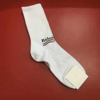 バレンシアガ(Balenciaga)のバレンシアガ ハイソックス 靴下 ホワイト  送料無料(ソックス)