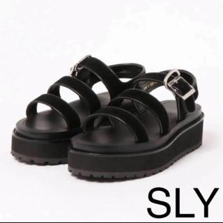 SLY ブラックサンダル