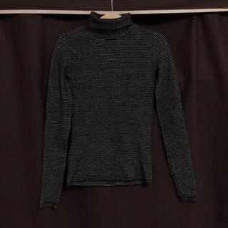 ディーホリック(dholic)のDHOLIC タートルネックボーダースリムTシャツ(Tシャツ(長袖/七分))