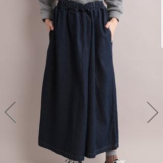 メルロー(merlot)の◆Fillil☆デニムラップワイドバギーパンツ《未使用》(デニム/ジーンズ)