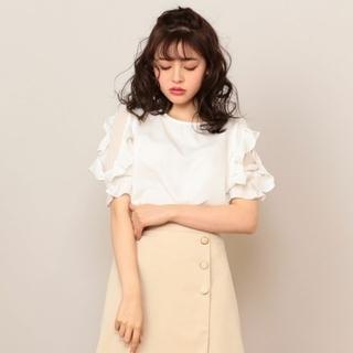 ミーア(MIIA)のフリルトップス♡タグ付 スカート付(カットソー(半袖/袖なし))
