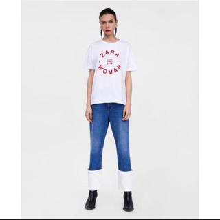 ザラ(ZARA)のZARA ロゴプリントtシャツ L(Tシャツ(半袖/袖なし))