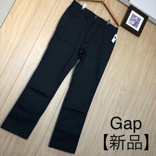 ギャップ(GAP)の【新品】Gap メンズ パンツ L 黒 定価約¥4,900 秋冬(チノパン)