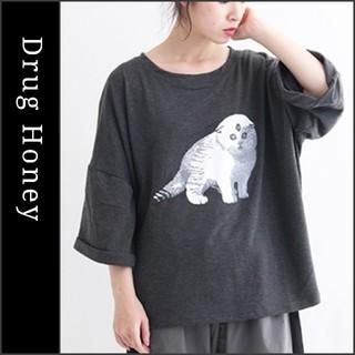 ファンキーフルーツ(FUNKY FRUIT)の【Drughoney】「Evilcat」半袖スウェットカットソー ドラッグハニー(Tシャツ(半袖/袖なし))