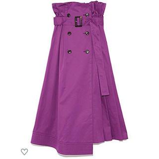 フレイアイディー(FRAY I.D)のFRAY I.D トレンチプリーツフレアスカート 完売 スカート(ロングスカート)