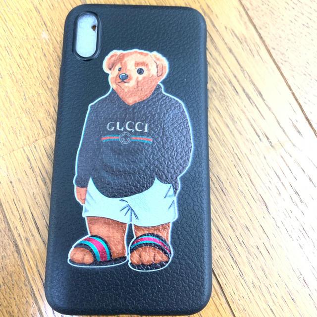 iphone x, iphone xs ケース カバー 可愛い クマの通販