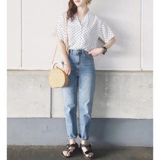 ジーユー(GU)のドットシャツ(シャツ/ブラウス(半袖/袖なし))