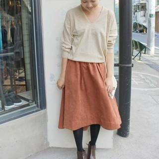 イエナスローブ(IENA SLOBE)のウォッシャブルスエードカラースカート*スローブイエナ(ひざ丈スカート)