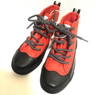 ハンター(HUNTER)の新品英国王室御用達ブランドHUNTERハンターレインブーツレースアップ雨靴19c(長靴/レインシューズ)