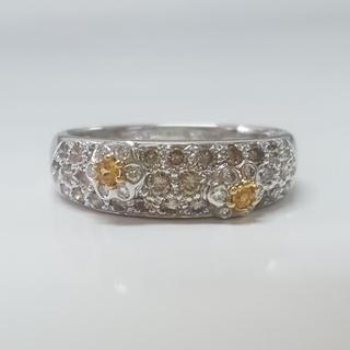 ブラウンダイヤモンド フラワーリング (リング(指輪))