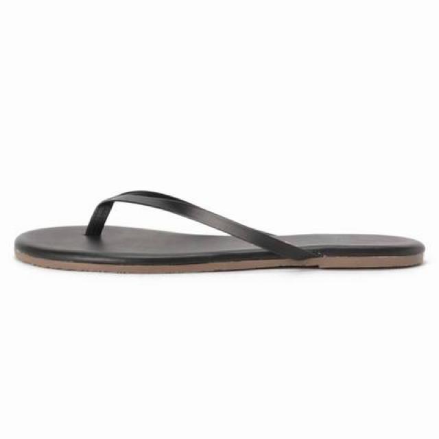 DEUXIEME CLASSE(ドゥーズィエムクラス)のTKEES レザー サンダル ブラック EUR38 ドゥーズィエムクラス  レディースの靴/シューズ(サンダル)の商品写真