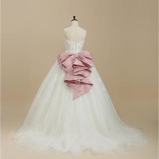 Barbie - ワタべ バービー Barbie ウエディングドレス リボン ピンク