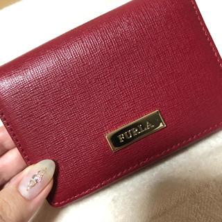 フルラ(Furla)のフルラ  財布 折りたたみ 赤 美品(折り財布)