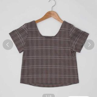 カスタネ(Kastane)のカスタネチェック柄Tシャツ(Tシャツ(半袖/袖なし))