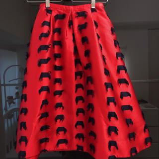 チェスティ(Chesty)のChesty/Skirt/Red(ひざ丈スカート)