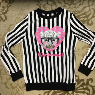 シマムラ(しまむら)の【韓国服】 ストライププリントトレーナー 薄手 110(Tシャツ/カットソー)